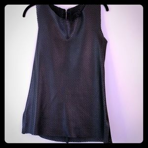Lasercut Leather Sleeveless Top